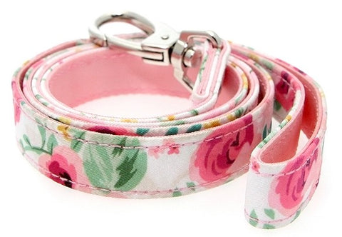Floral Cascade Swarovski Crystal Dog Lead - Posh Pawz Fashion