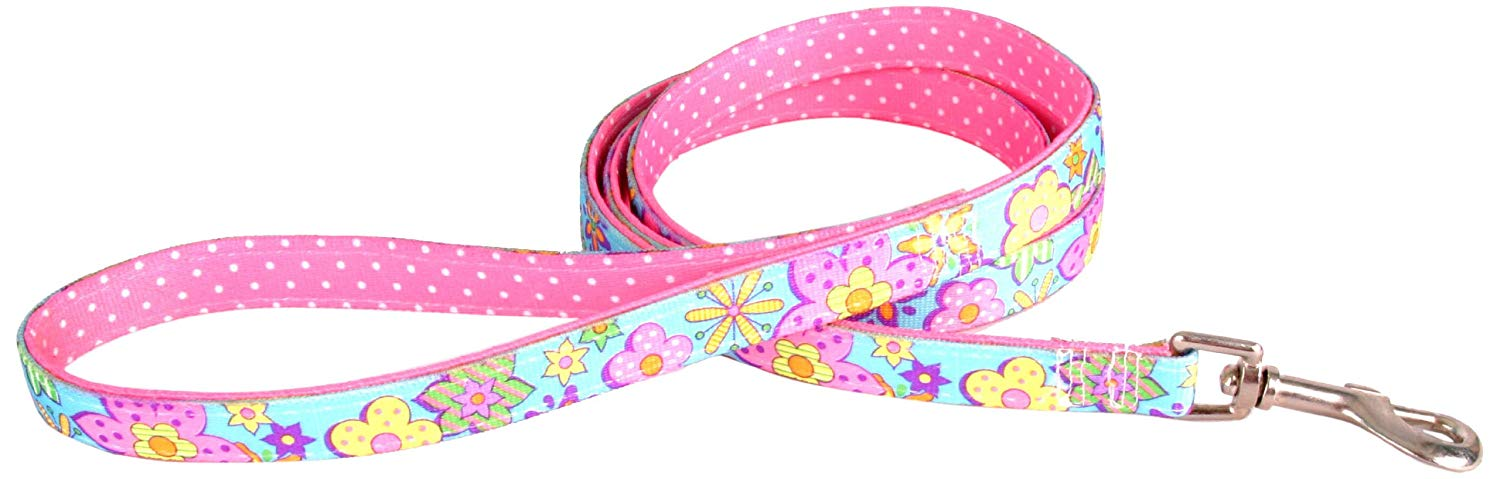 Funky Flowers Padded Designer Dog Lead - Posh Pawz Fashion