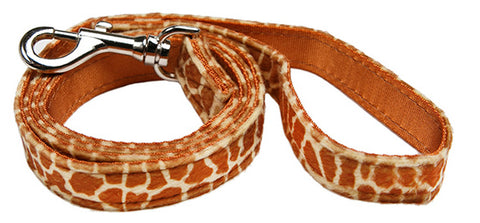 Giraffe Print Fabric Dog Lead - Posh Pawz Fashion