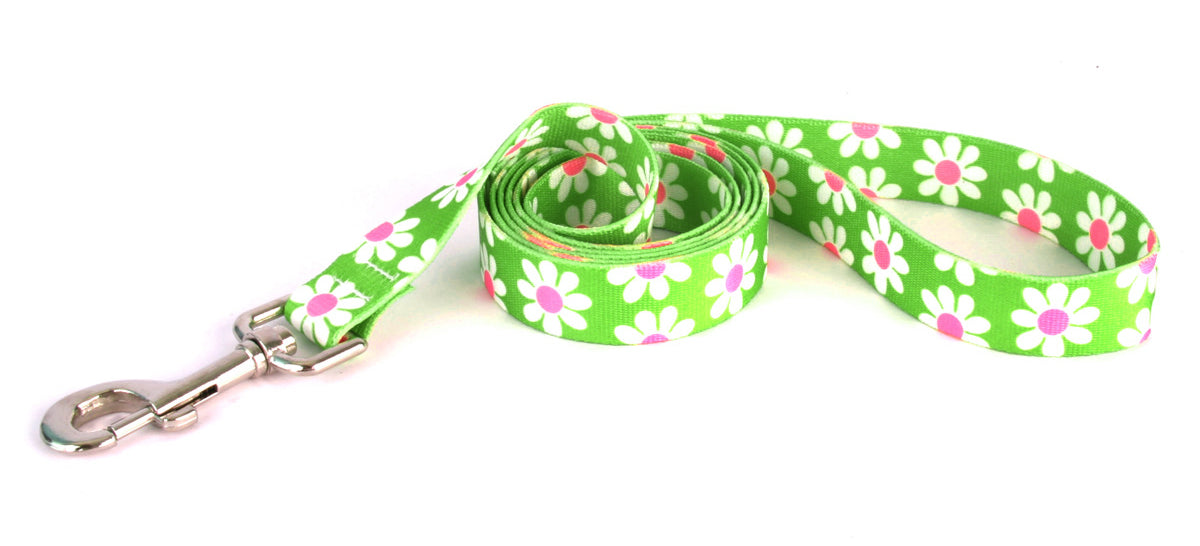Daisy Daisy Print Designer Fabric Dog Lead - Posh Pawz Fashion