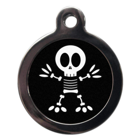 Fun Halloween Skeleton Dog ID Tag - Posh Pawz Fashion