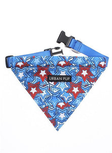 Hero Star Fabric Dog Bandana Collar - Posh Pawz Fashion