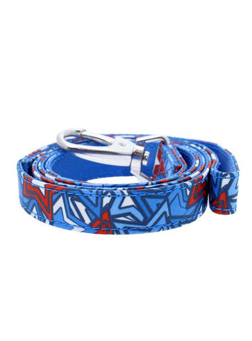 Hero Star Designer Fabric Dog Lead - Posh Pawz Fashion