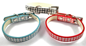 Houndstooth Small Breed Dog Collars - Posh Pawz Fashion
