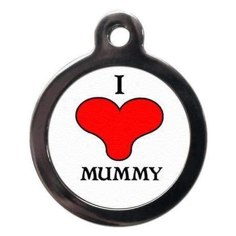 I Love Mummy Dog ID Tag - Poochie Fashion