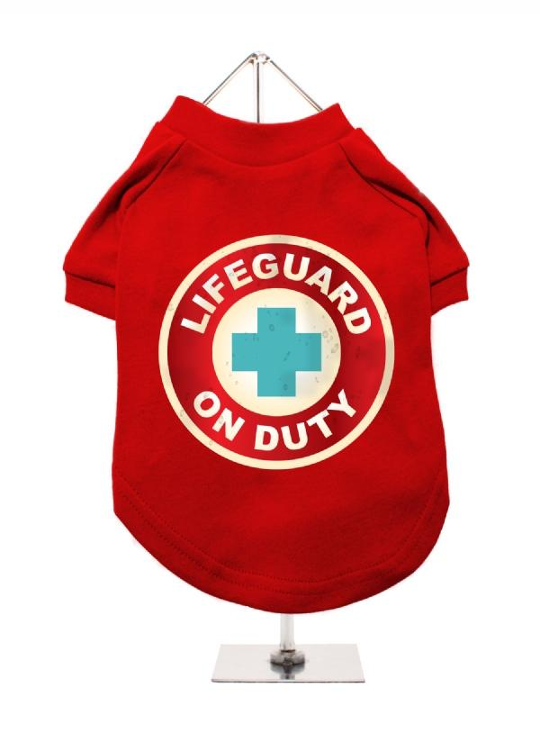Lifeguard Dog T-Shirt Red XLarge