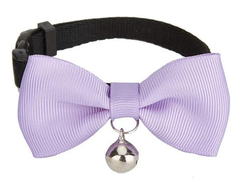 Lilac Handmade Bow Tie Cat Collar - Posh Pawz Fashion