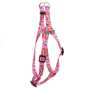 I Love My Dog Tattoo Adjustable Step In Dog Harness In Pink - Posh Pawz Fashion