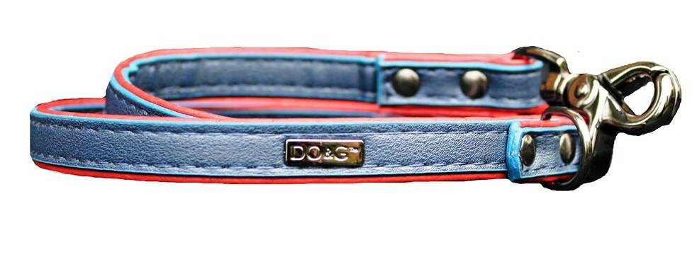Luxury Leather Dog Lead - Ruby Blues - Posh Pawz Fashion