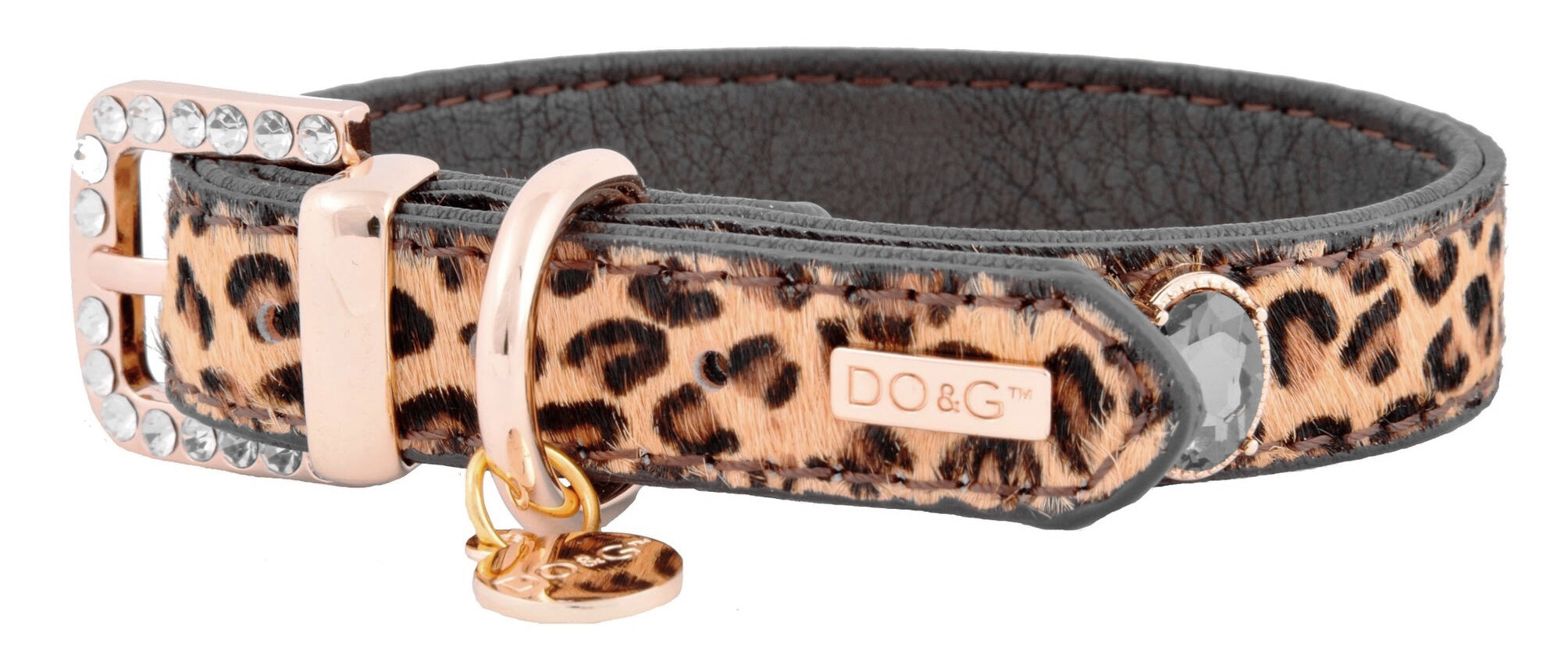 Luxury Leather Leopard Dog Collar - Posh Pawz Fashion