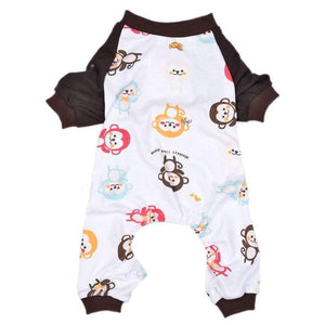Cheeky Monkey Onesie Dog Pyjamas - Posh Pawz Fashion