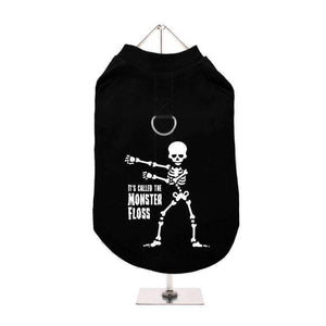 Halloween Monster Floss Harness Lined Dog T-Shirt - Posh Pawz Fashion