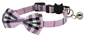 Classic Pink Tartan Plaid Cat Collar - Posh Pawz Fashion