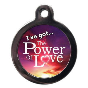 The Power Of Love Dog ID Tag - Posh Pawz Fashion