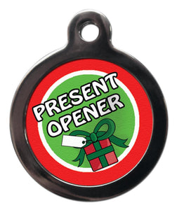 Present Opener Dog ID Tag - Posh Pawz Fashion