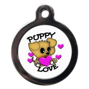 Cute Puppy Love Dog ID Tag - Posh Pawz Fashion