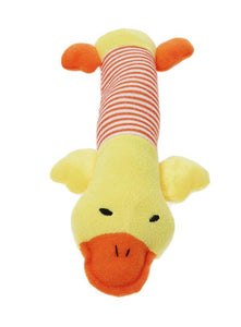 Quackers Duck Plush And Squeaky Dog Toy - Posh Pawz Fashion