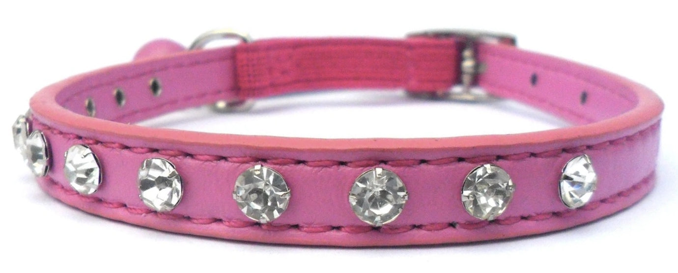 Raspberry Ice Crystal Cat Collar - Posh Pawz Fashion