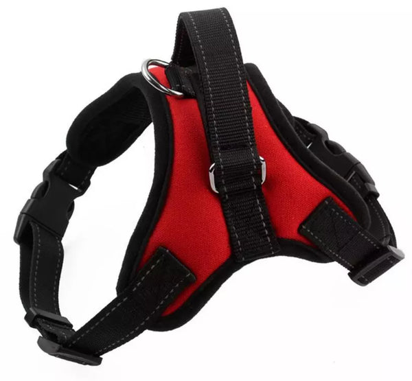 Red Padded No Pull Control Dog Harness - Posh Pawz Fashion