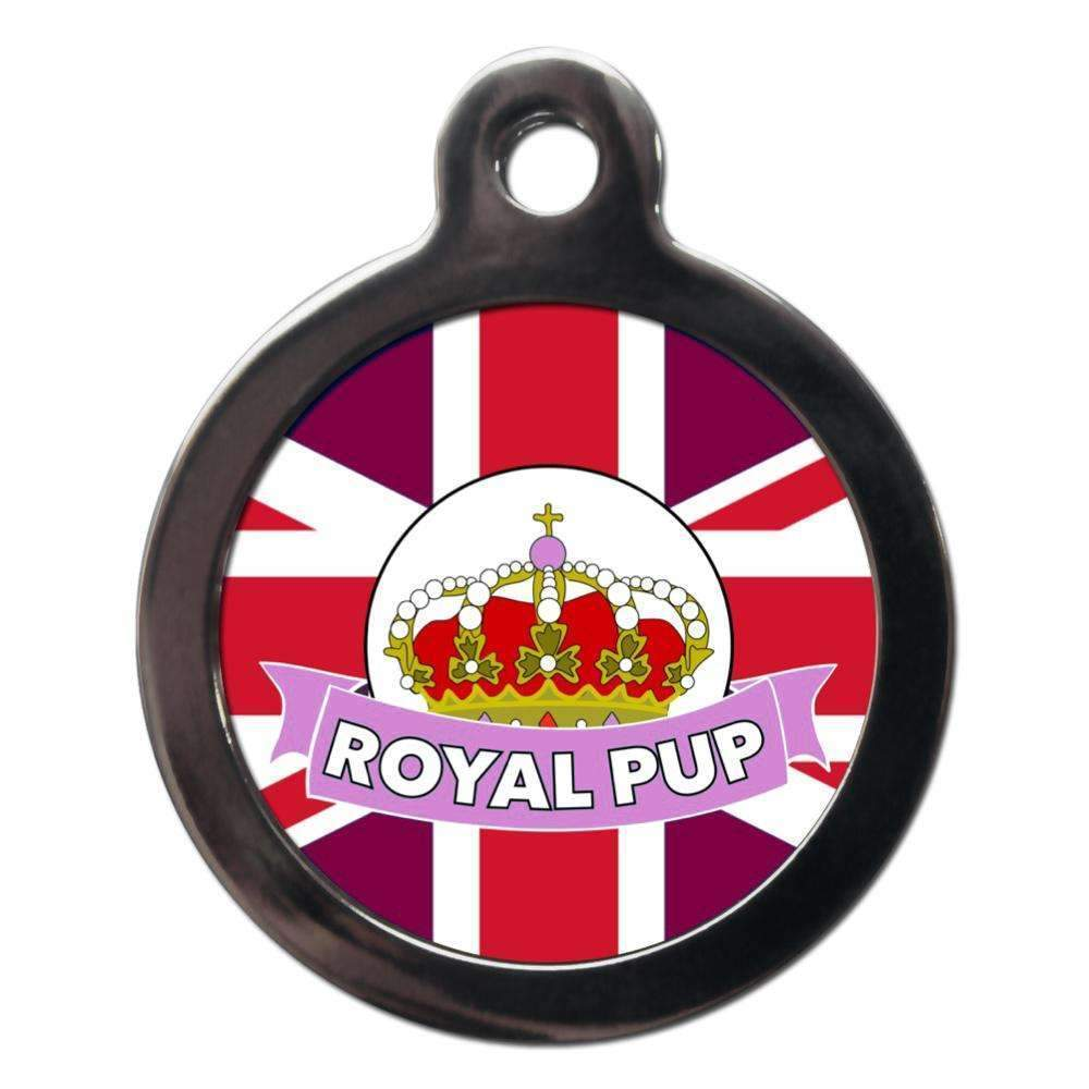 Royal Pup Dog Pink ID Tag - Posh Pawz Fashion