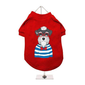 Sailing Schnauzer Dog T-Shirt - Posh Pawz Fashion