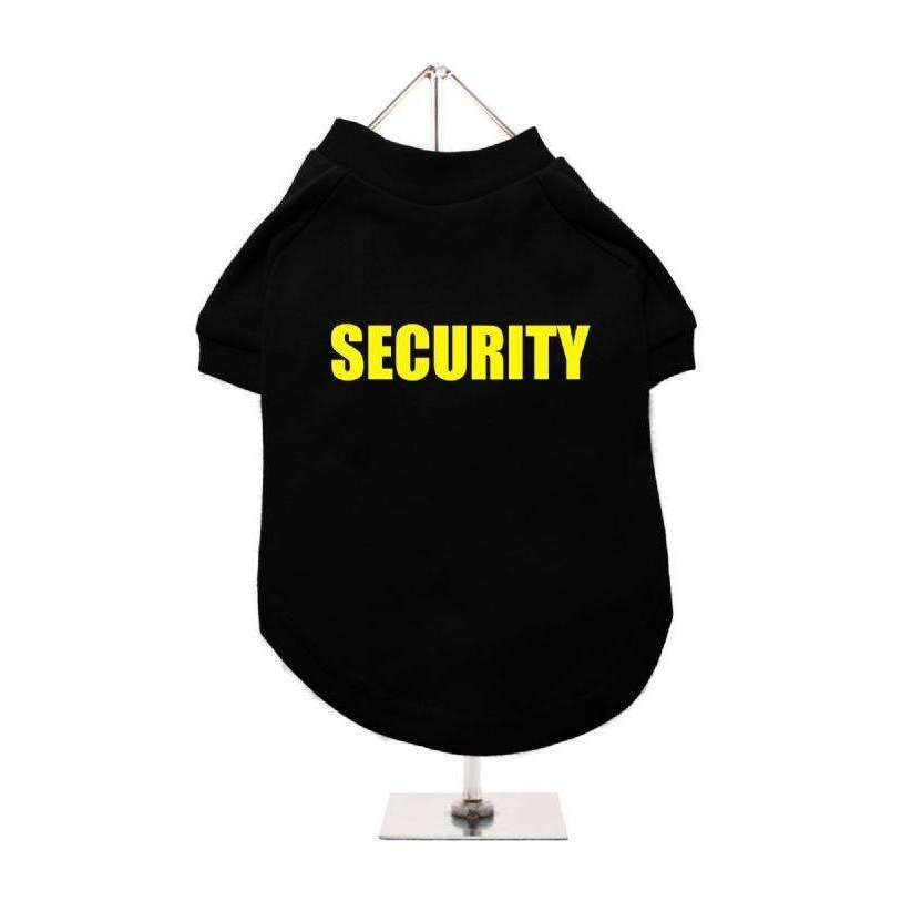 Security Dog T-Shirt In Black-Yellow - Posh Pawz Fashion