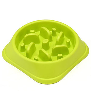 Maze Slow Feeder Dog Bowl Lime Green - Posh Pawz Fashion