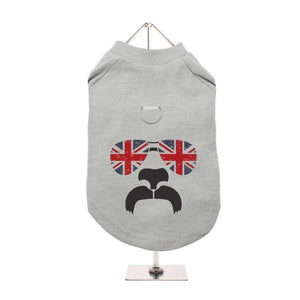 Shades and Tash Harness Lined Dog T Shirt Grey - Posh Pawz Fashion