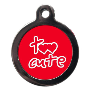 Too Cute Red Dog ID Tag - Posh Pawz Fashion