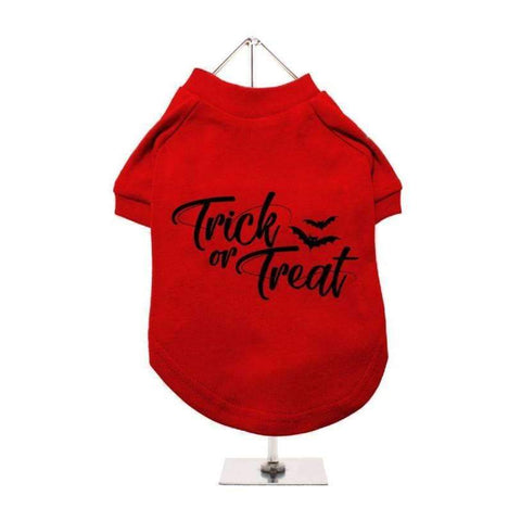 Halloween Trick Or Treat Dog T-Shirt - Posh Pawz Fashion