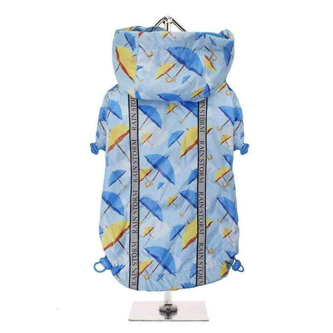 Umbrella Print Rainstorm Dog Rain Coat - Posh Pawz Fashion