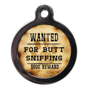 Wanted For Butt Sniffing Dog ID Tag - Posh Pawz Fashion