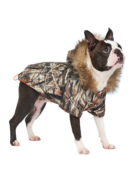 Wetlands Camo Parka Dog Coat 5 - Posh Pawz Fashion