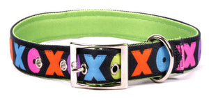 XO Hugs And Kisses Padded Designer Dog Collar - Posh Pawz Fashion