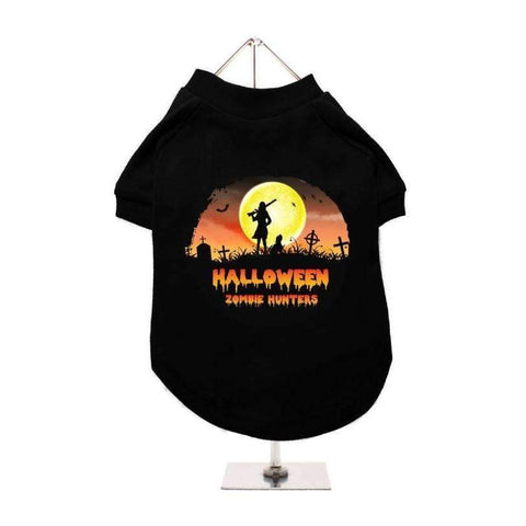Halloween Zombie Hunters Dog T-Shirt - Posh Pawz Fashion