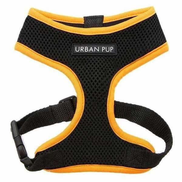 Active Mesh Neon Orange Dog Harness - Posh Pawz Fashion