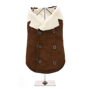 Aviator Shearing Fleece Dog Coat - Posh Pawz Fashion