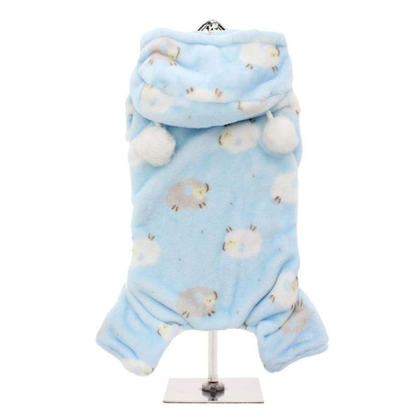Baby Blue Counting Sheep Onesie Dog Pyjamas - Posh Pawz Fashion