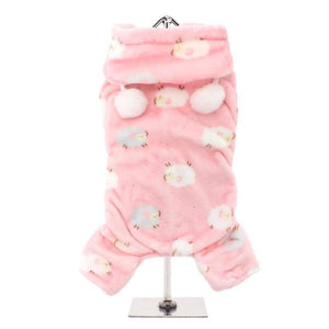 Baby Pink Counting Sheep Onesie Dog Pyjamas - Posh Pawz Fashion