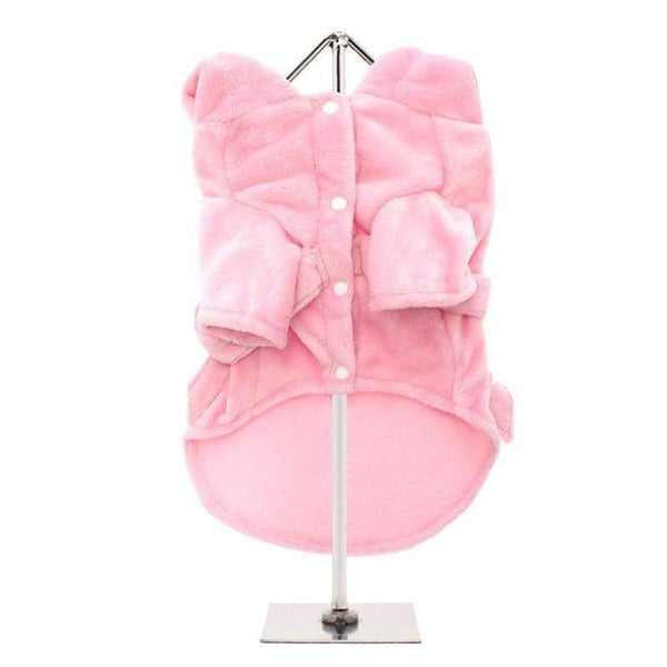 Baby Pink Plush and Fluffy Terry Dog Bath Robe - Posh Pawz Fashion