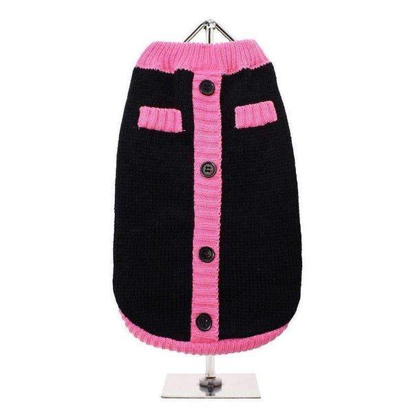 Black And Pink Mod Dog Jumper - Posh Pawz Fashion