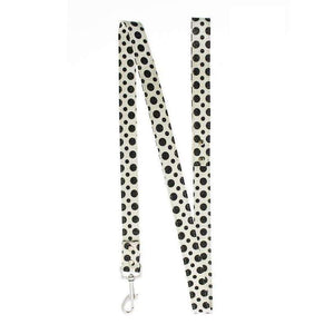 Black and White Polka Dot Glitter Dog Lead - Posh Pawz Fashion