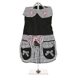Black Gingham Dog Dress - Posh Pawz Fashion