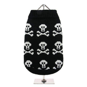 Black Skull Dog Jumper - Posh Pawz Fashion