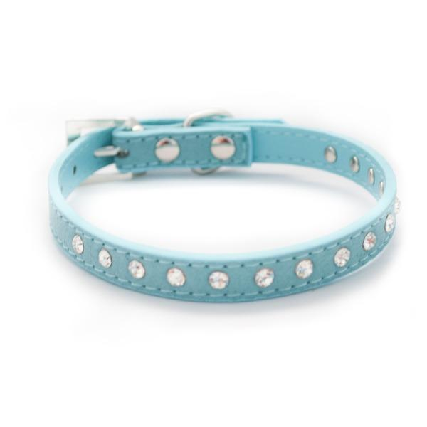 Blue Diamante Dog Collar - Posh Pawz Fashion