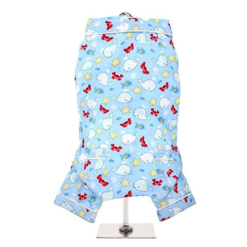 Blue Ocean Bedtime Dog Pyjamas - Posh Pawz Fashion