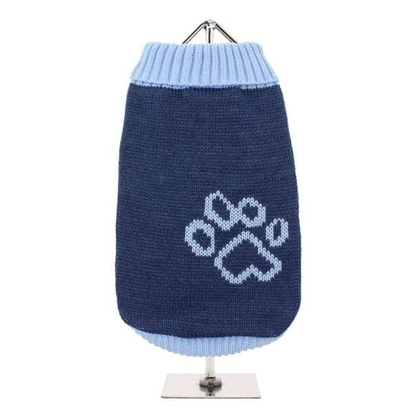 Blue Paw Dog Jumper - Posh Pawz Fashion
