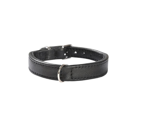 Bobby Escapade Leather Dog Collar In Black XXSmall - Posh Pawz Fashion