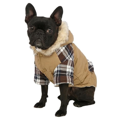 Bremar Tartan Trimmed Parka Dog Coat - Posh Pawz Fashion