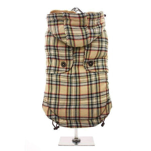 Brown Tartan Designer Dog Coat - Posh Pawz Fashion